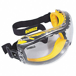 Anti-Fog, Scratch-Resistant Impact Resistant Goggles, Clear Lens Color