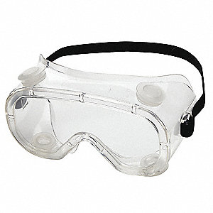 Scratch-Resistant Indirect Protective Goggles, Clear Lens