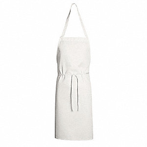 "Disposable Apron, White, 33"" Length, 30"" Width, Polyester/Cotton Material, EA,  1"