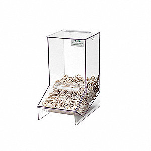 "Multi Use Dispenser, Clear, Acrylic, Holds: Finger Cot, 6"" Width"