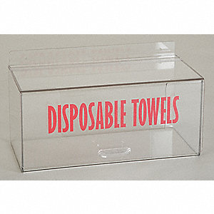 Acrylic Disposable Towel Dispenser, Clear; PK1