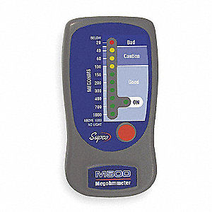 LED Line Powered Megohmmeter&#x3b; Insulation Resistance Range: 20 to 1000 megohm