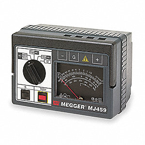 Analog Battery Operated Megohmmeter; Insulation Resistance Range: 0 to 2000 megohm