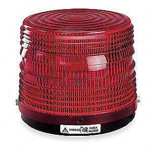 Warning Light,Strobe Tube,Red,120VAC