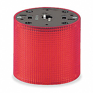 120VAC Incandescent Tower Light Module Multimode with 100mm Dia., Red