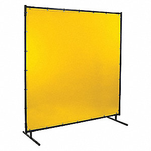 "Transparent Vinyl Welding Screen, 6 ft. H x 6 ft.W x 0.014"" Thick, Yellow"