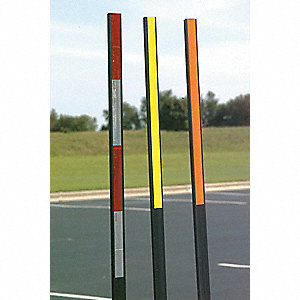 Orange/Black Reflective T-Post Marker
