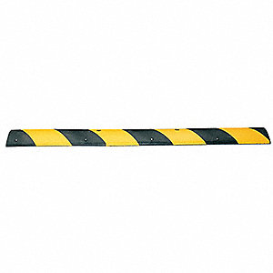Speed Bump,48 In,Black/Yellow,Rubber