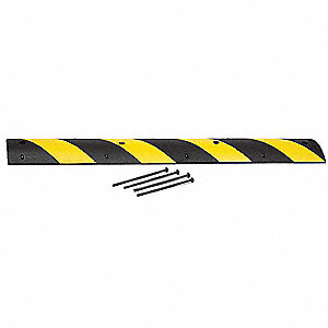 Speed Bump,72 In,Black/Yellow,Rubber
