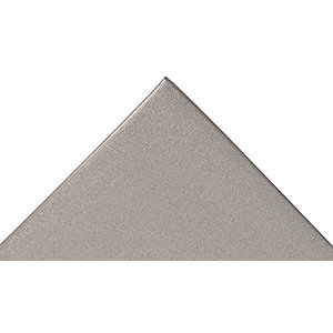 "Static Dissipative Mat, 10 ft. L, 3 ft. W, 3/8"" Thick, Gray"