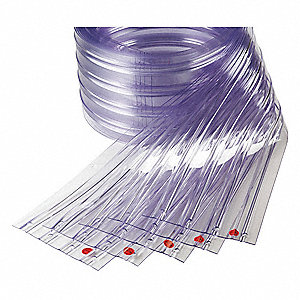 "Ribbed PVC Replacement Strips, 8""W x 7 ft. 3""L"