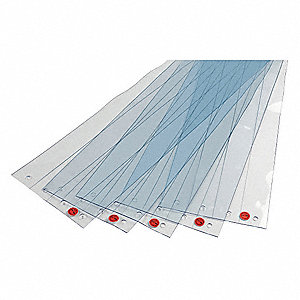 "Smooth, Reinforced PVC Replacement Strips, 6""W x 7 ft. 3""L"