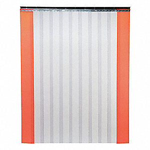 Industrial PVC Strip Door, Smooth Strip Type, 10 ft. Opening Width, 10 ft. Opening Height