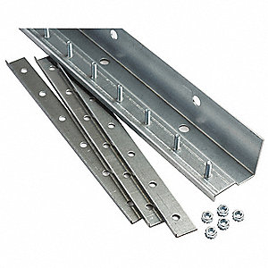 Strip Door Hardware,3 ft.,Aluminum
