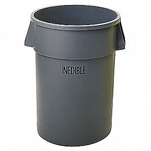 BRUTE 32 gal. Gray, Polyethylene Utility Container