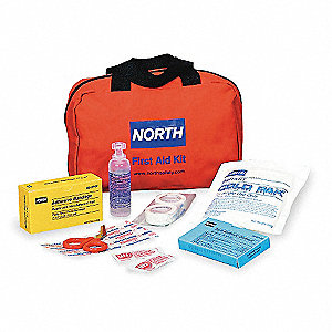 First Aid Kit,Bulk,Red,10 People