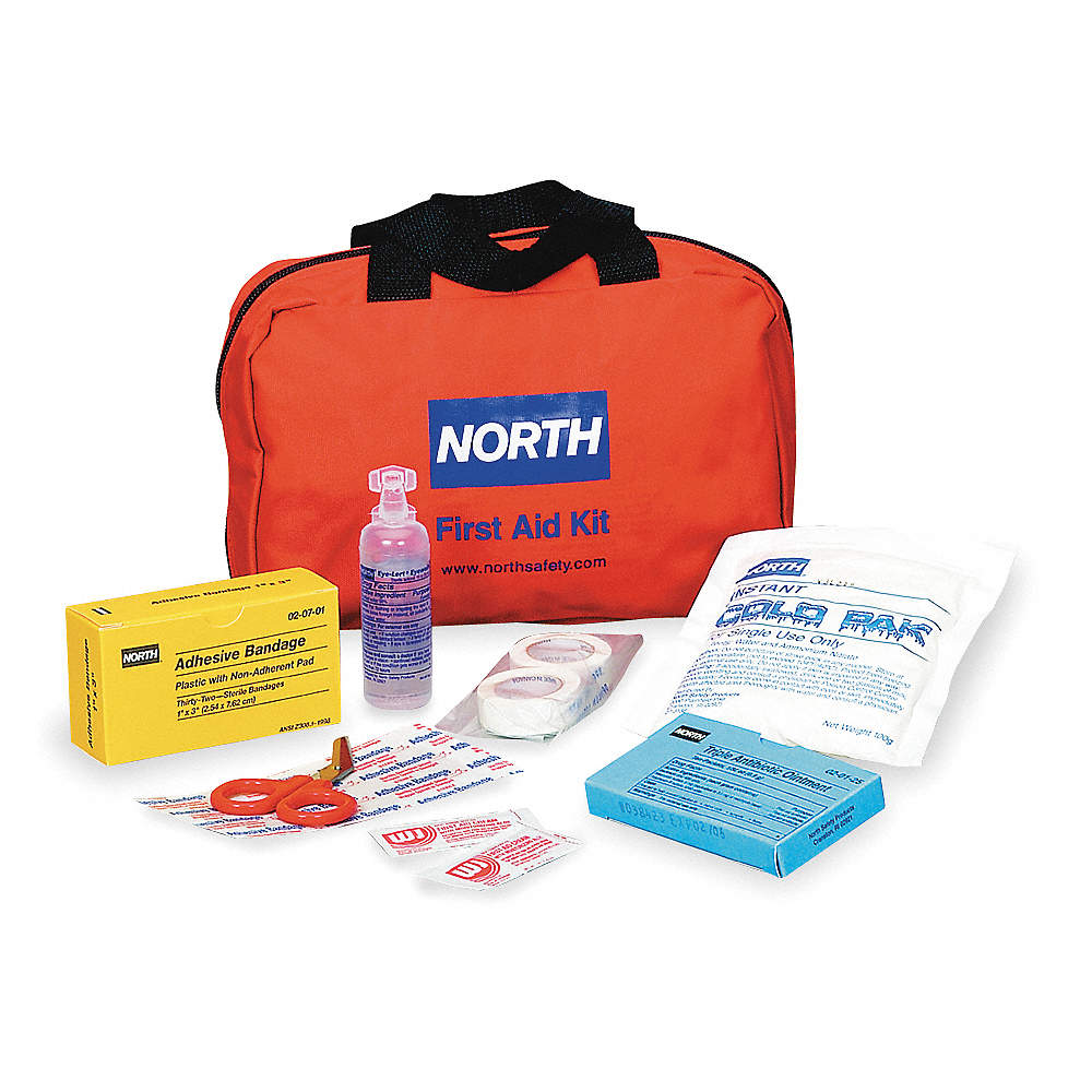 HONEYWELL NORTH First Aid Kit, Kit, Nylon Case Material