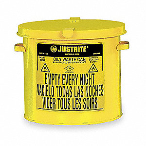 Countertop Oily Waste Can,2 Gal.,Yellow
