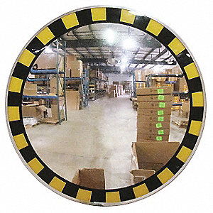 "30""-dia. Circular Indoor Convex Mirror, Viewing Distance: 30 ft."