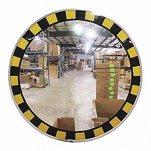 Circular Indoor Convex Mirror, 160° Viewing Angle, 25 ft. Approx. Viewing Distance