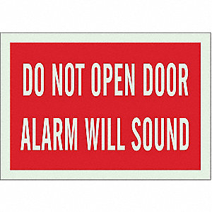 "Door Instruction, No Header, Polyester, 7"" x 10"", Adhesive Surface, Not Retroreflective"