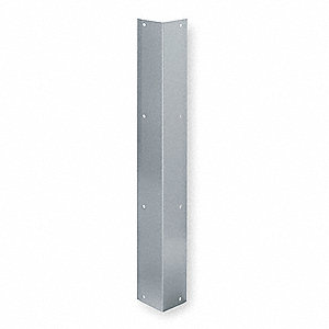 Corner Guard,2 x 48 In,Screw In,Satin SS