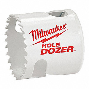 Hole Dozer Hole Saw,Bi-Metal,Blk,2-7/8in