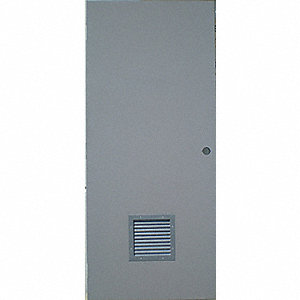 Steel Door with Louvers,84x36 In