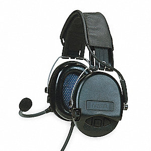 Electronic Ear Muff,21dB,Over-the-H,Bk