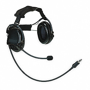 Electronic Ear Muff,19dB,Over-the-H,Bk