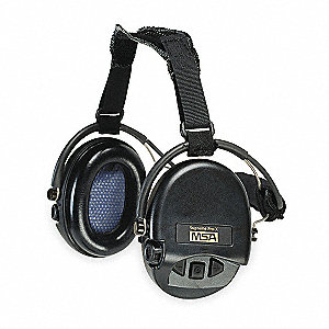 Electronic Ear Muff,18dB,Over-the-H,Bk