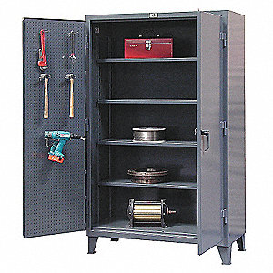 "Pegboard Cabinet, 48"" Overall Width, 78"" Overall Height, 24"" Overall Depth"