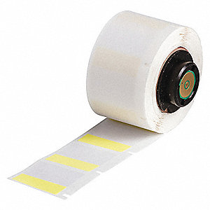 "Yellow on Translucent, 250 Labels per Roll  1"" H x 1"" W, 1 EA"