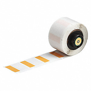 "Orange on Translucent, 250 Labels per Roll  1"" H x 1"" W, 1 EA"