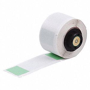 "Green on Translucent, 100 Labels per Roll  2-1/2"" H x 1"" W, 1 EA"