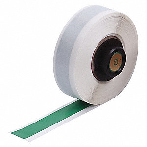 "Green Vinyl Label Tape Cartridge, Vinyl Label Type, 50 ft. Length, 1/2"" Width"
