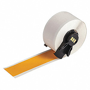 "Vinyl Vinyl Label Tape Cartridge, Yellow, 1""W x 50 ft."