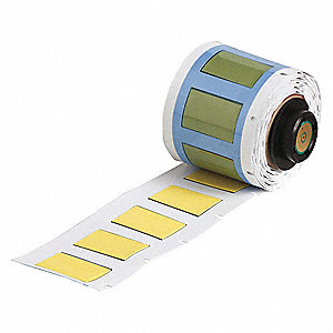 "Yellow, 100 Labels per Roll  41/64"" H x 1-1/64"" W, 1 EA"