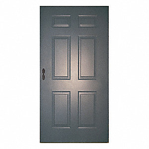 Six Panel Steel Door, 80x36, Mortise