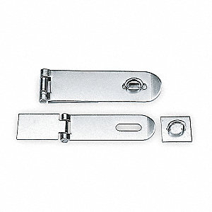 "Weld-On Fixed Staple Hasp, 6"" Length, 316 Stainless Steel, Electro Polished Finish"