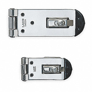 "Conventional Fixed Staple Hasp, 2-19/32"" Length, 304 Stainless Steel, Polished Finish"