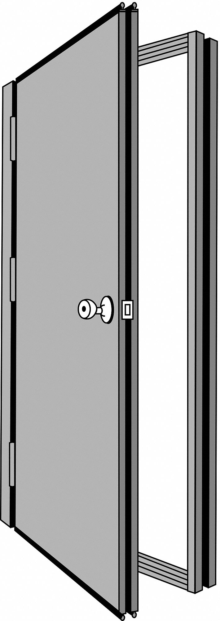 Security Door, Hand Right, 85 7/16x48 5/8