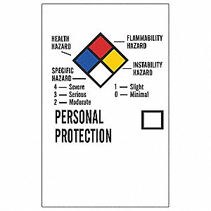 NFPA Label,2 In.H,1-1/4 In.W,Paper,PK500