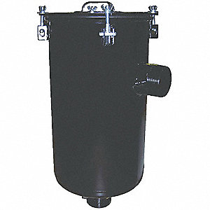 Carbon SteelStandard Duty Inlet Vacuum Filter, 99% Efficiency Rating