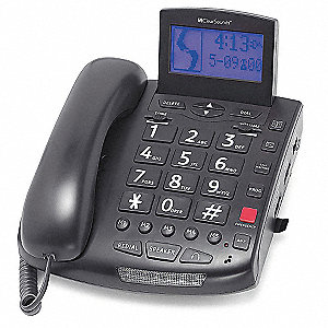 Telephone,Corded,Blk