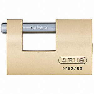 "2-1/3""H Keyed-Different U-Shaped Keyed Padlock, Shackle: H: 11/16"" W: 13/16"" Dia: 15/32"""