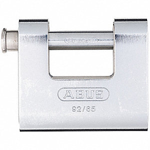 "2-1/3""H Keyed-Alike U-Shaped Keyed Padlock, Shackle: H: 1/2"" W: 1-1/8"" Dia: 7/16"""