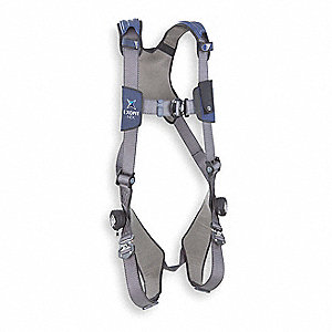 Full Body Harness,M,420 lb.,Blue