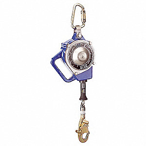 30 ft. Self-Retracting Lifeline with 310 lb. Weight Capacity, Blue/Gray