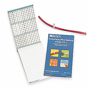 Black on White Wire Marker Book, Vinyl Cloth, No. of Labels: 450